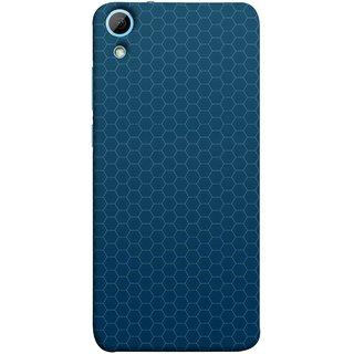 FUSON Designer Back Case Cover For HTC Desire 828 Dual Sim (Hexa Design Honey Bee Hive Art Style Blue)