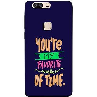 FUSON Designer Back Case Cover For Huawei Honor V8 (Blue Background Best Friends Always Together)