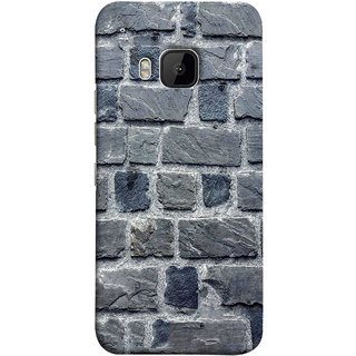 FUSON Designer Back Case Cover For HTC One M9 :: HTC One M9S :: HTC M9 (Irregular Shapes Cement Ancient Different Sizes Wall)