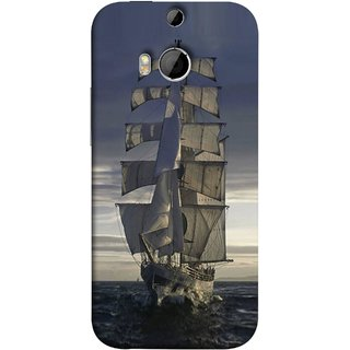 FUSON Designer Back Case Cover For HTC One M9 Plus :: HTC One M9+ :: HTC One M9+ Supreme Camera (Beautiful Big Ship In Ocean Vintage Tall High)