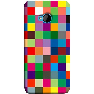FUSON Designer Back Case Cover For HTC M7 :: HTC One M7 (Triple Monitor Multi Multiple Screen Brique Cube)