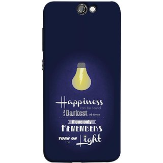 FUSON Designer Back Case Cover For HTC One A9 (If Only One Remembers To Turn On The Light)