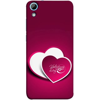 FUSON Designer Back Case Cover For HTC Desire 828 Dual Sim (Just Pinky Say Always I Love You Red Hearts Couples)