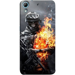 FUSON Designer Back Case Cover For HTC Desire 626G :: HTC Desire 626 Dual SIM :: HTC Desire 626S :: HTC Desire 626 USA :: HTC Desire 626G+ :: HTC Desire 626G Plus (Golden Division  Masks Iraqi Special Forces )