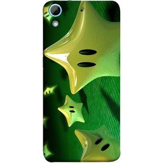 FUSON Designer Back Case Cover For HTC Desire 626G :: HTC Desire 626 Dual SIM :: HTC Desire 626S :: HTC Desire 626 USA :: HTC Desire 626G+ :: HTC Desire 626G Plus (Shy Many Gold Star Cartoon Emoji Emotions In Air )