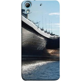FUSON Designer Back Case Cover For HTC Desire 728 Dual Sim :: HTC Desire 728G Dual Sim (Indian Submarine Shoots Ship With Missile Training )