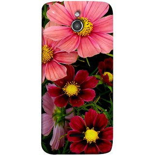 FUSON Designer Back Case Cover For InFocus M2 (Flower Grass Green Small Nice Colourful Gerbera )