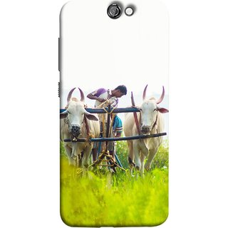 FUSON Designer Back Case Cover For HTC One A9 (Indian Farmers Crop Sowing Seeds Fresh Rice Plants )