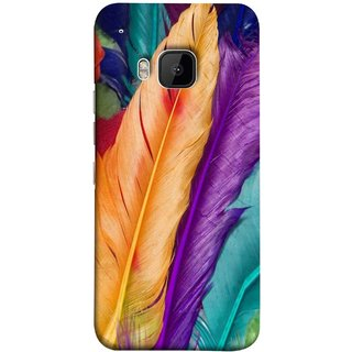 FUSON Designer Back Case Cover For HTC One M9 :: HTC One M9S :: HTC M9 (Birds Feathers Parrot Peacock Best Cover Design)