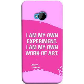 FUSON Designer Back Case Cover For HTC M7 :: HTC One M7 (I Am My Own Work Of Art Madonna Ciccone Quotes)