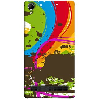 FUSON Designer Back Case Cover For Intex Aqua Power Plus :: Intex Aqua Power + (Forest Nature Whimsical Fantasy Fine Art Spots)