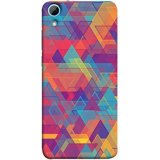 FUSON Designer Back Case Cover For HTC Desire 828 Dual Sim (Geometric Watercolour Art Print Pink Bright)