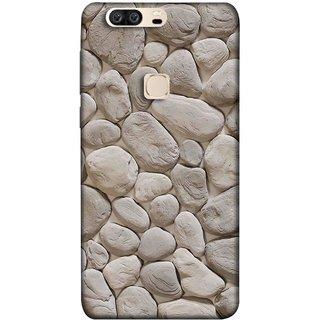 FUSON Designer Back Case Cover For Huawei Honor V8 (Landscape River Old Rock Sizes Irregular Shapes Mat)