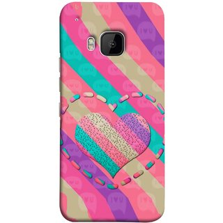 FUSON Designer Back Case Cover For HTC One M9 :: HTC One M9S :: HTC M9 (Hearts Love Lovely Strips Candy Cane Jellybean)