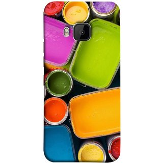 FUSON Designer Back Case Cover For HTC One M9 :: HTC One M9S :: HTC M9 (Cans And Paint On Colour Background Bright Full Joy )