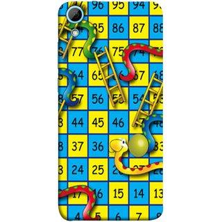 FUSON Designer Back Case Cover For HTC Desire 828 Dual Sim (Dice Pair Nice Game India Blue Children Squares Girls )