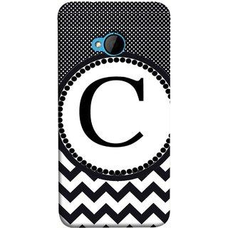 FUSON Designer Back Case Cover For HTC M7 :: HTC One M7 (Alphabets Dots Black Shade Wave Patterns White)