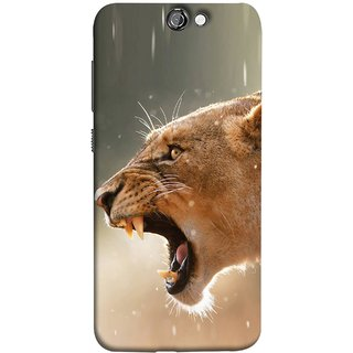 FUSON Designer Back Case Cover For HTC One A9 (Tiger Lion Chitta Angrily Looking Killer Hunter Shikari)