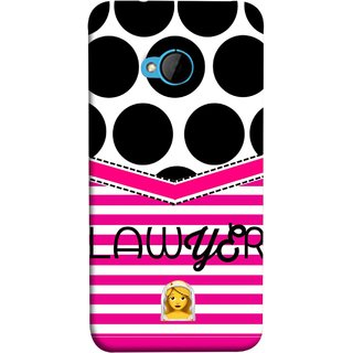 FUSON Designer Back Case Cover For HTC M7 :: HTC One M7 (Beautufil Lawyers Cases Court Nice Pink Design Paper)