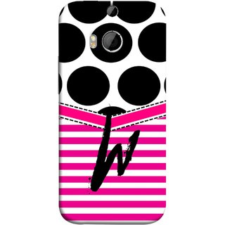FUSON Designer Back Case Cover For HTC One M9 Plus :: HTC One M9+ :: HTC One M9+ Supreme Camera (Beautiful Cute Nice Couples Pink Design Paper Girly W)
