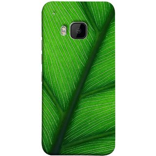 FUSON Designer Back Case Cover For HTC One M9 :: HTC One M9S :: HTC M9 (Bright Green Leaf Of Tree Full Of Life Network Of Veins)