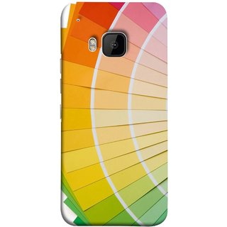 FUSON Designer Back Case Cover For HTC One M9 :: HTC One M9S :: HTC M9 (Papers Sheets White Circle Round Beautiful Lining )