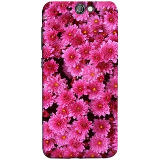 FUSON Designer Back Case Cover For HTC One A9 (Thousands Flowers Magenta Mums Nature Pink)