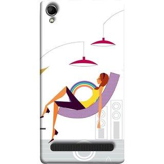 FUSON Designer Back Case Cover For Intex Aqua Power Plus :: Intex Aqua Power + (Office Lights Shoes Mordern Speakers Beauty Parlor)