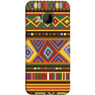 FUSON Designer Back Case Cover For HTC One M9 :: HTC One M9S :: HTC M9 (Tribal Patterns Colourful Eye Catching Verity Different )