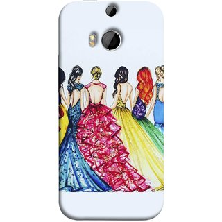 FUSON Designer Back Case Cover For HTC One M9 Plus :: HTC One M9+ :: HTC One M9+ Supreme Camera (Backless Prom Dress Gowns Dolls Curly Hairs Long)