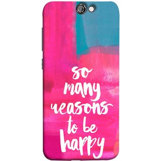FUSON Designer Back Case Cover For HTC One A9 (Oil Painting Canvas Best Quotes Words Find Happiness)