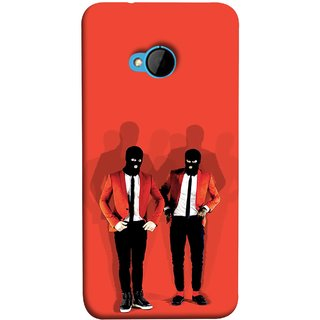 FUSON Designer Back Case Cover For HTC M7 :: HTC One M7 (Coat Pant Trouser Shadow Light White Shoes Posing )