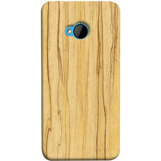 FUSON Designer Back Case Cover For HTC M7 :: HTC One M7 (Plywood Good Quality Best Mobile Back Cover )