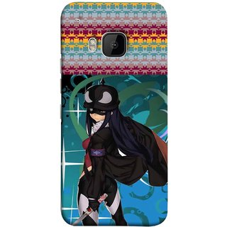 FUSON Designer Back Case Cover For HTC One M9 :: HTC One M9S :: HTC M9 (Blue Background Woman Standing Holding Warrior Fantasy)
