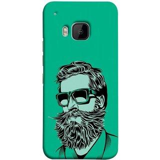 FUSON Designer Back Case Cover For HTC One M9 :: HTC One M9S :: HTC M9 (Full Thick Black Beard Man Men Glasses Mustache)