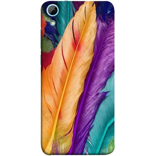 FUSON Designer Back Case Cover For HTC Desire 828 Dual Sim (Birds Feathers Parrot Peacock Best Cover Design)