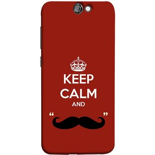 FUSON Designer Back Case Cover For HTC One A9 (Beautiful Mustache Always Stay Silent Work Resolve)