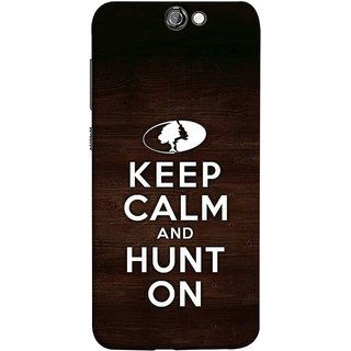 FUSON Designer Back Case Cover For HTC One A9 (World Logo Keep Silent And Cool Hunting Always)