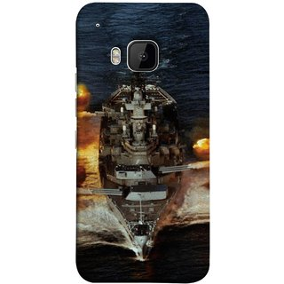 FUSON Designer Back Case Cover For HTC One M9 :: HTC One M9S :: HTC M9 (Indian Submarine Shoots Ship With Missile Training )