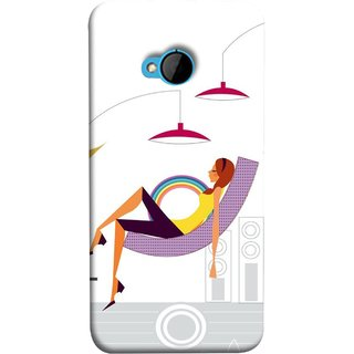 FUSON Designer Back Case Cover For HTC M7 :: HTC One M7 (Office Lights Shoes Mordern Speakers Beauty Parlor)