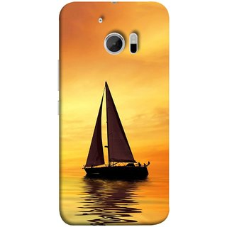 FUSON Designer Back Case Cover For HTC 10 :: HTC One M10 (Sailing Ships Sailboats Ocean Pond Sea River)