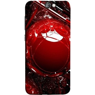 FUSON Designer Back Case Cover For HTC One A9 (Bold Red Design 3D Rendering Of Modern Abstract)