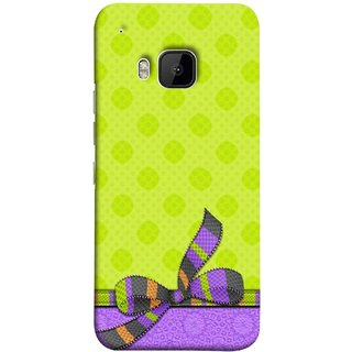 FUSON Designer Back Case Cover For HTC One M9 :: HTC One M9S :: HTC M9 (Pista Green Colour Gift Wrap Packing Wallpaper)