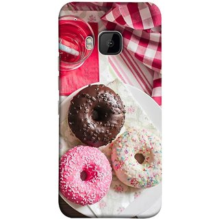 FUSON Designer Back Case Cover For HTC One M9 :: HTC One M9S :: HTC M9 (Glazed Donuts Sweet Desserts Party Cold Soft Drink)
