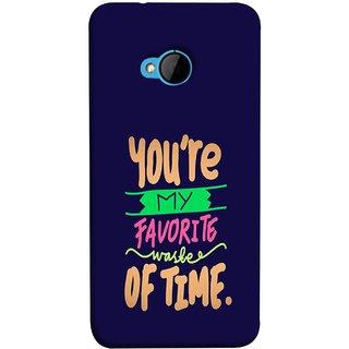 FUSON Designer Back Case Cover For HTC M7 :: HTC One M7 (Blue Background Best Friends Always Together)