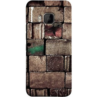 FUSON Designer Back Case Cover For HTC One M9 :: HTC One M9S :: HTC M9 (Irregular Shapes Ancient Different Sizes Wallpaper)