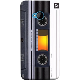 FUSON Designer Back Case Cover For HTC M7 :: HTC One M7 (Menu Playlist Pause Fast Forward Backwards Black )