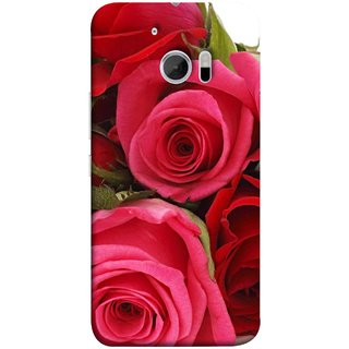 FUSON Designer Back Case Cover For HTC 10 :: HTC One M10 (Close Up Red Roses Chocolate Hearts For Valentines Day)