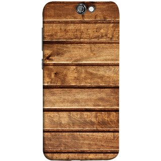 FUSON Designer Back Case Cover For HTC One A9 (Wood Furniture Table Door Solid Beautiful Art Wallpaper)