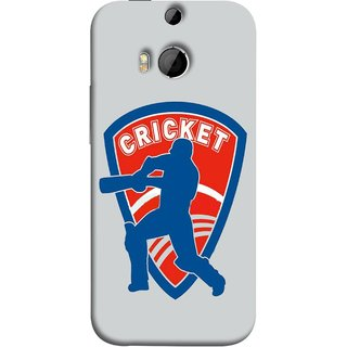 FUSON Designer Back Case Cover For HTC One M8 :: HTC M8 :: HTC One M8 Eye :: HTC One M8 Dual Sim :: HTC One M8s (County Cricket India Aus England Bat Ball Batsman)